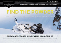 website design for snowmobiling company