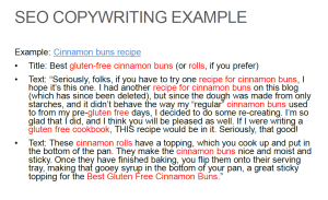 search engine copywriting content
